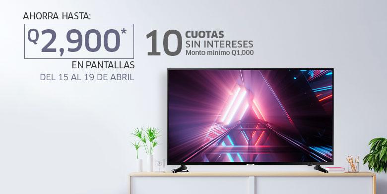 Ahorro en pantallas