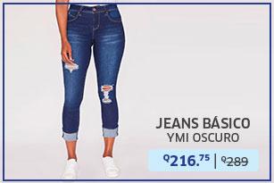 Jeans básico lavado oscuro