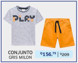 Conjunto gris para niño